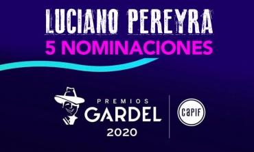 Luciano Pereyra recibe cinco nominaciones a los Premios Gardel 2020