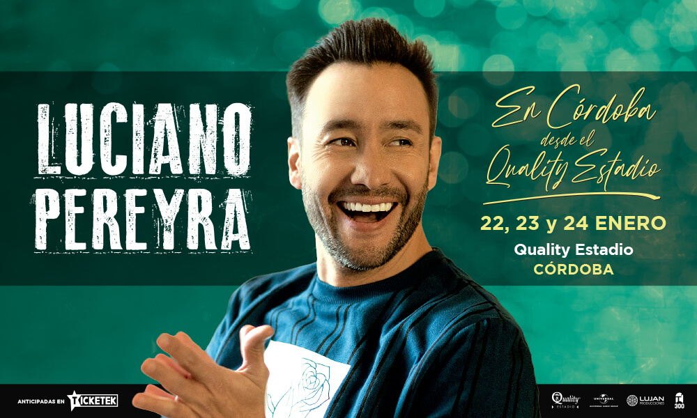 Luciano Pereyra vuelve a los escenarios en persona con una serie de shows en el Quality Estadio de Córdoba