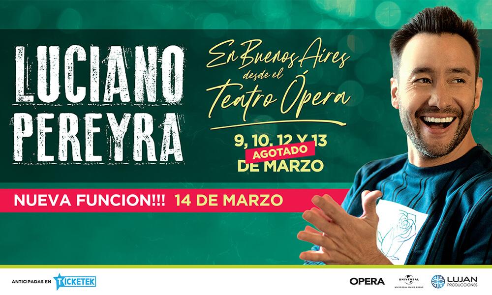 Luciano Pereyra en Buenos Aires desde el Teatro Ópera