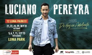 Luciano Pereyra Suma presentaciones en Noviembre en el Estadio Luna Park ante la demanda de localidades